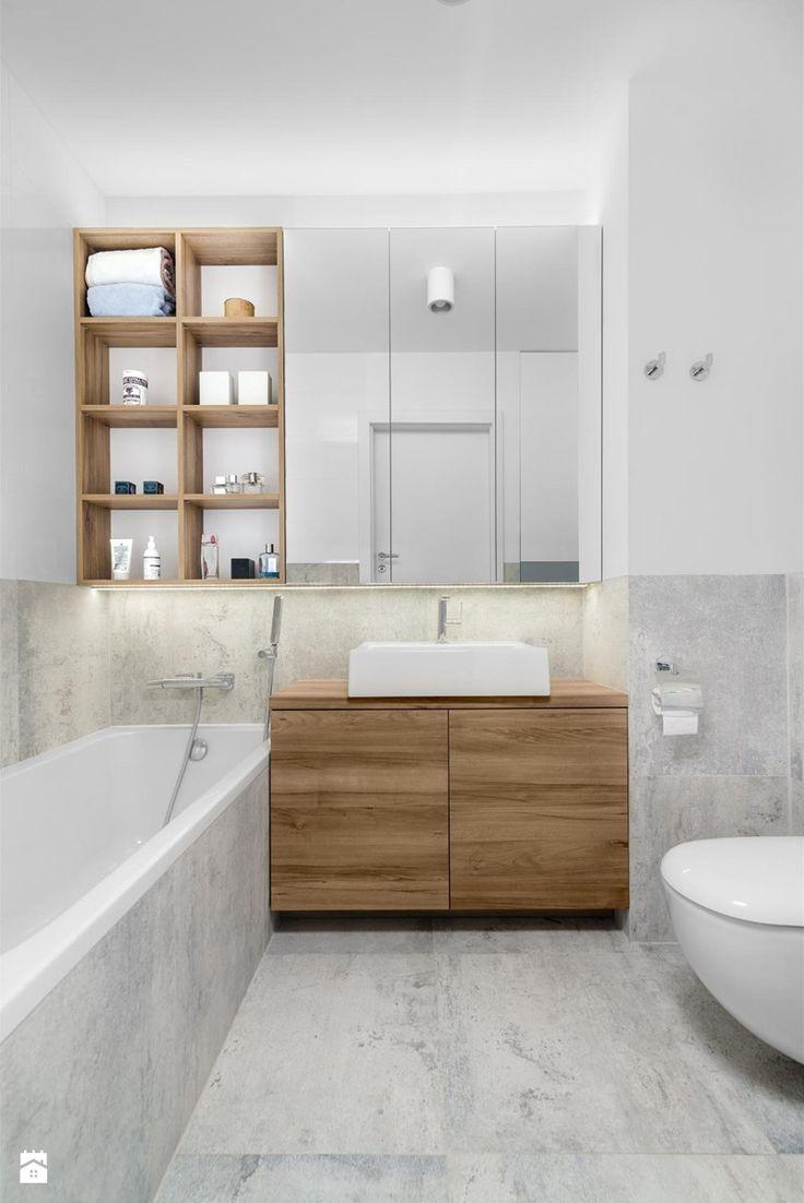 Mieszkanie M&M - Średnia łazienka w bloku bez okna, styl nowoczesny - zdjęcie od 081architekci