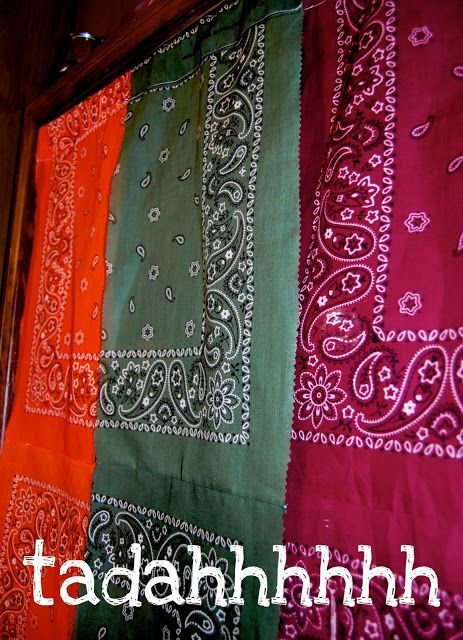 Bandana Curtains Tutorial   JADERBOMB