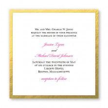 Gold and Shimmery  https://www.theamericanwedding.com/vivaldi-wedding-invitations.html