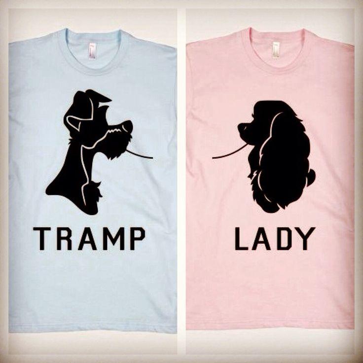 Disneyland couples shirts.  Lady & the Tramp, spaghetti scene.  <3