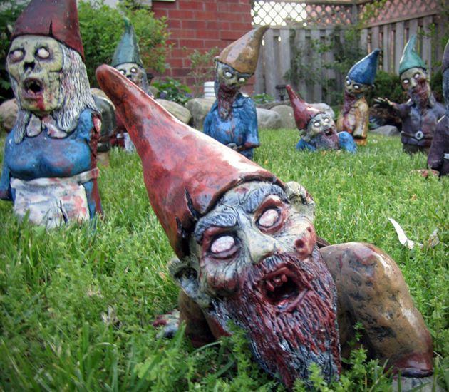 Zombie Garden Gnomes...scary