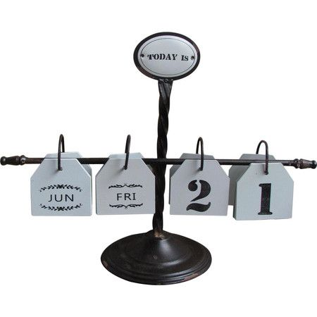 Crafted from iron and tin, choose a calendar that will last with this perpetual version. Perfect on your desk, change the date and year accordingly.