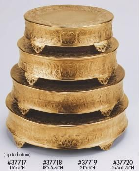 gold cakes | Wholesale silver and gold cake stands, candelabras, pedestals and ...