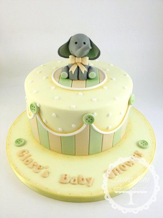 Neutral Ele Baby Shower - by LauraJaneCakeDesign @ CakesDecor.com - cake decorating website