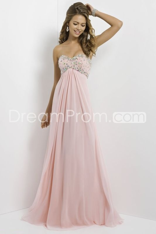 2014 Sweetheart Floor-length Sleeveless A-Line Chiffon Prom Dresses