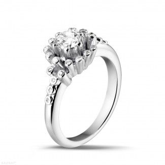 Witgouden Diamanten Verlovingsringen - 0.50 caraat diamanten design ring in wit goud