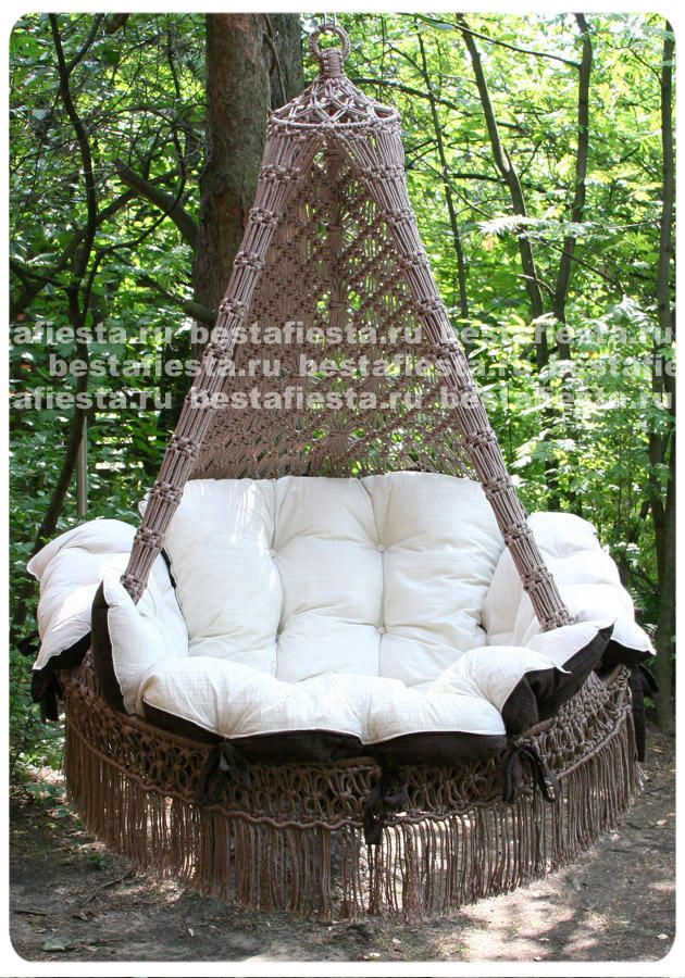СARTAGENA подвесное кресло-гамак (Бразилия) http://www.ilovemyhome.ru/product/podvesnoj-gamak-kreslo-cartagena-s-podushkami-poliamid-bezhevy...