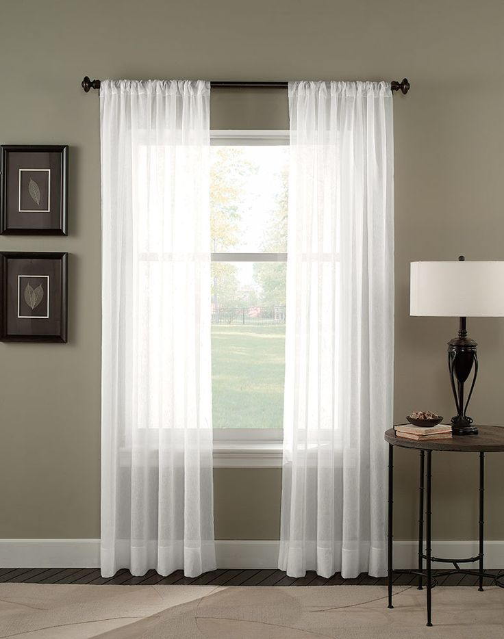 trinity crinkle voile sheer curtain panel