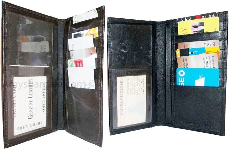 Women/Men's Leather Checkbook Wallet Checkbook Cover Credit Card Case Bnwt