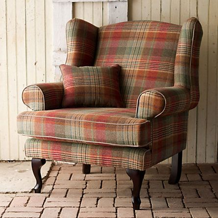 Furniture from this period is not kknown for comfort but can use complimentary fabric on comfy chair not compromising  era.