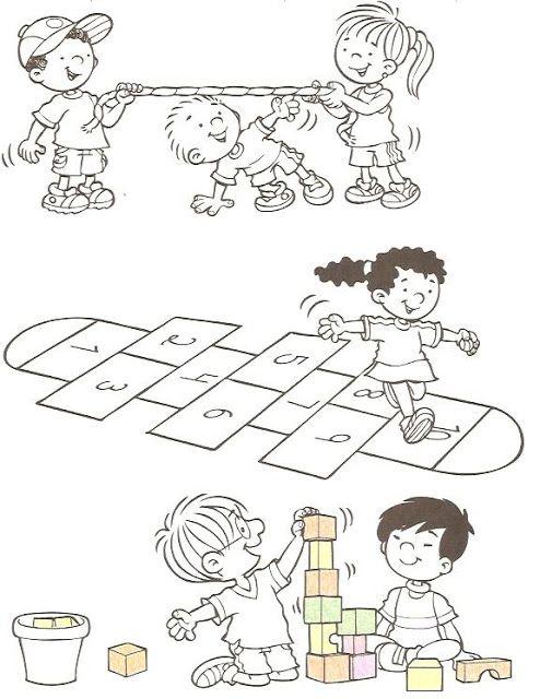 dibujos de juegos infantiles - Pesquisa Google