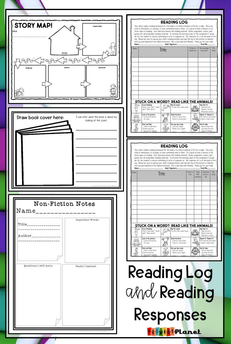 Reading Logs Homework With Reading Comprehension Activities