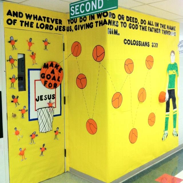 Delicieux Basketball Themed Door | Bulletin Board U0026 Door Décor | Pinterest | School,  Vacation Bible School And Classroom