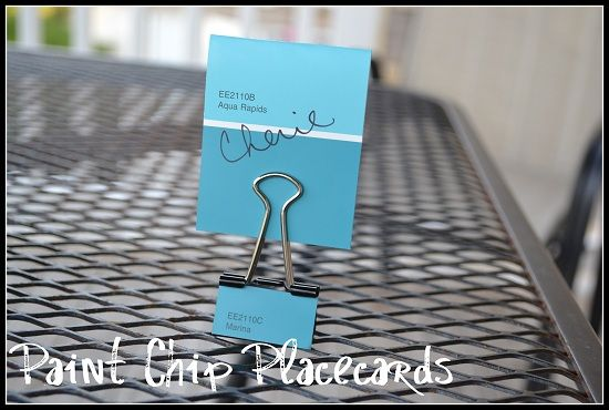 Paint Chip Placecards