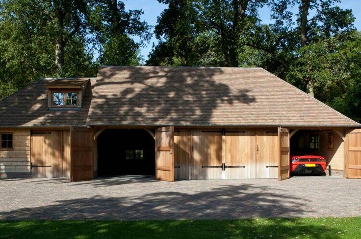 Mooi voorbeeld van houten garages
