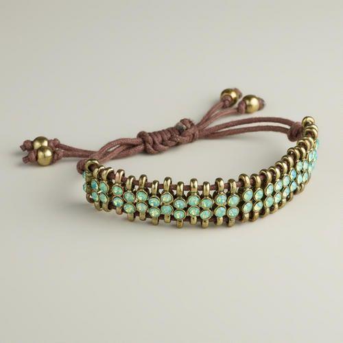 Pacific Opal Rhinestone Friendship Bracelet | World Market