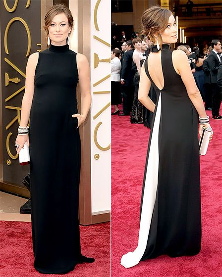 Demure in the front, party in the back! Love it <3 - Olivia Wilde, Oscars 2014