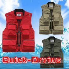 Fishing Hunting Vests Professional Vest for Fishing Vests Clothing Multi-pocket Jackets Colete Pesca Fishing Jacket Vest