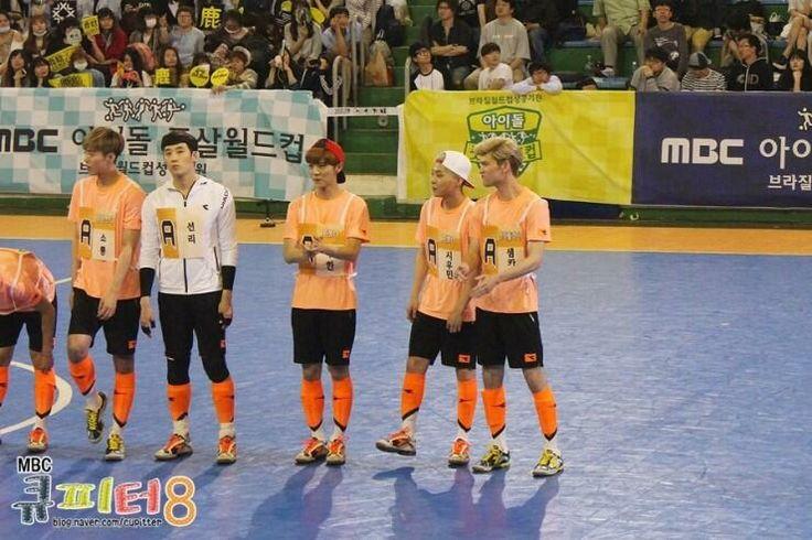 Luhan, Xiumin and Minho in MBC's Idol Futsal Championship Blog Update #7