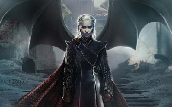 Emilia Clarke Daenerys Targaryen Game Of Thrones Season 8 Canvas Wall Art Game Of Thrones Dragons Mother Of Dragons Game Of Throne Daenerys