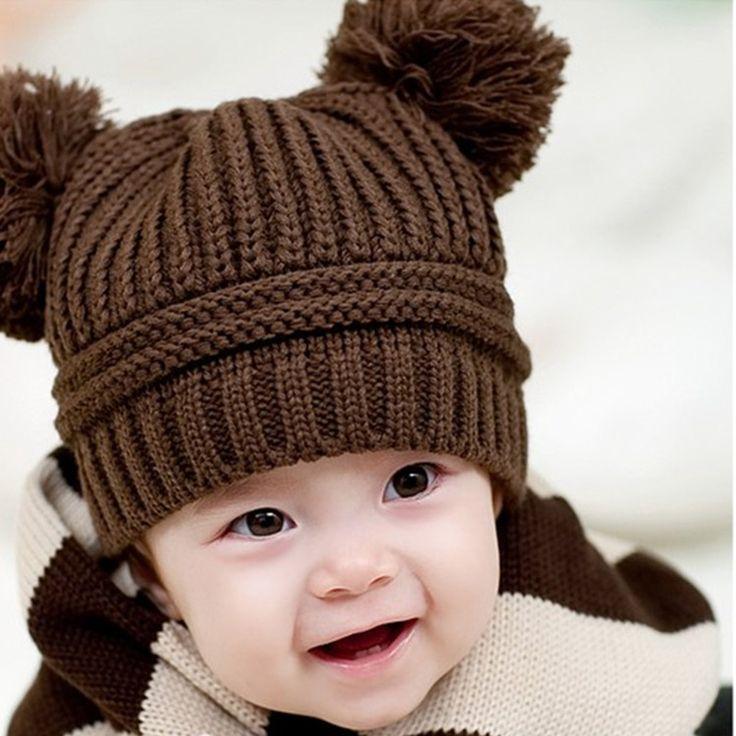 Шерстяные шапки для детей Милый Зимний Baby Дети Девочки Мальчики теплые Шерстяные Шапки Шляпы детские фотографии аксессуары шлем зимы младенца 14 367 купить на AliExpress