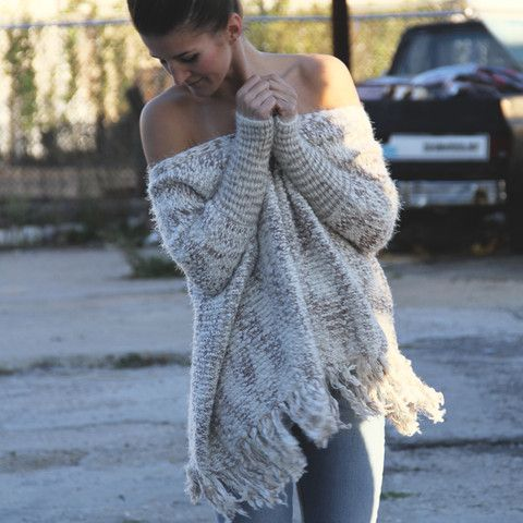 Chunky Off The Shoulder Sweater
