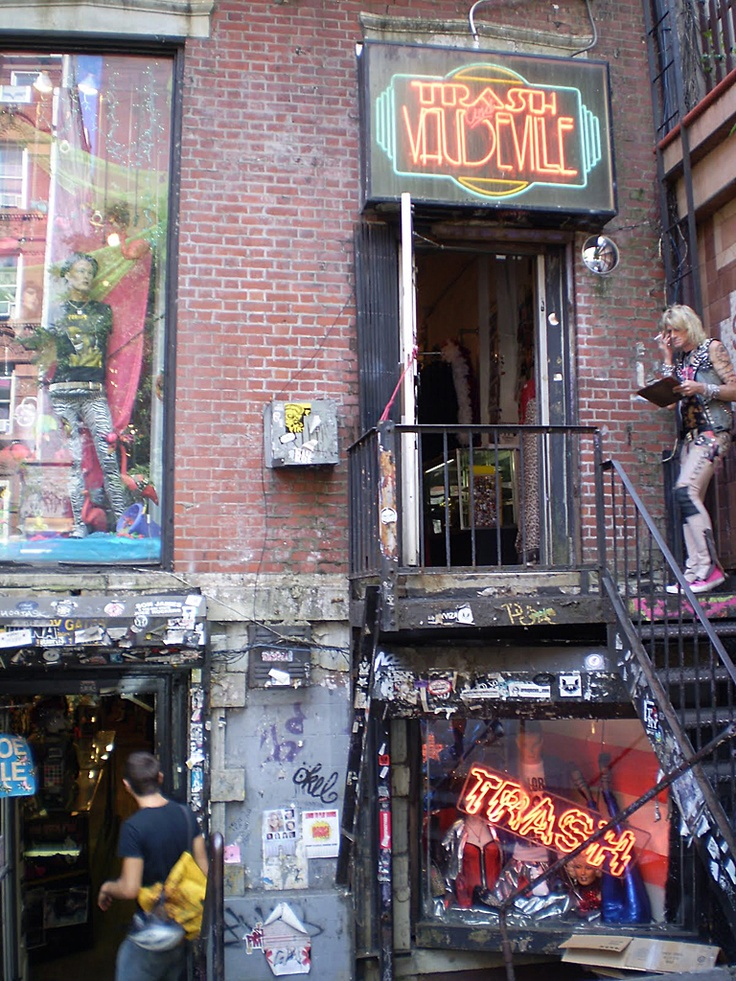 Trash and Vaudeville, 4 St. Marks Place  NYC — I loved shopping here, especially for shoes.