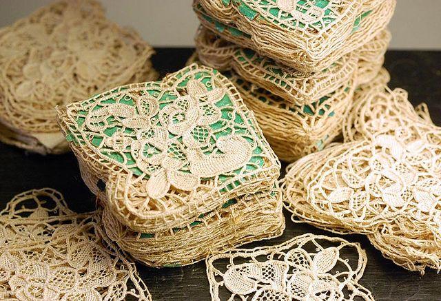 Antique needlelace bundles by wondertrading, via Flickr