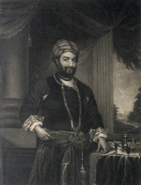 Nawab Sadat Ali Khan. William Say, mezzotint engraver, 1768-1864