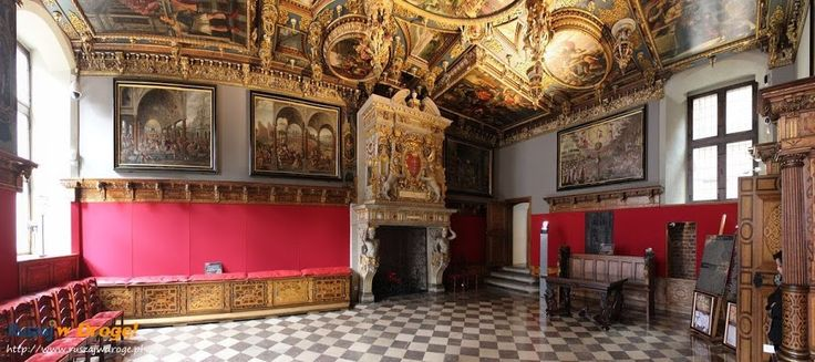 #Sala czerwona w Ratuszu Głównego Miasta #Gdańsk, #Poland