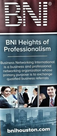 BNI Heights of Professionalism Chapter banner