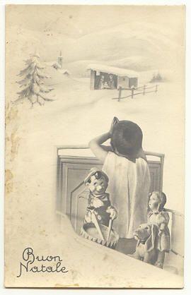 Buon Natale (cartolina) Happy Christmas (postcard) vintage 1943