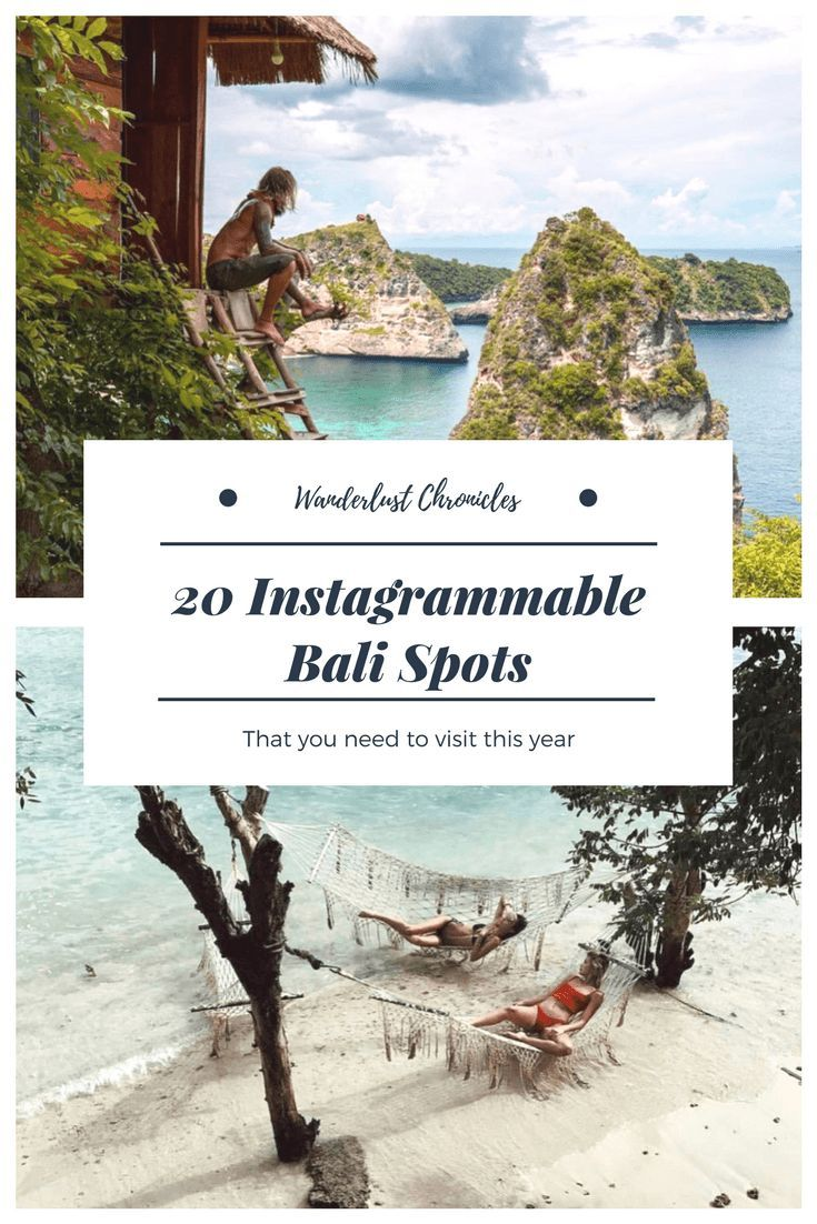 20 Instagrammable Places to Visit in Bali #Instawo…