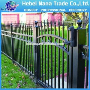 Garden Zone Powder Coated Steel Fence Panel