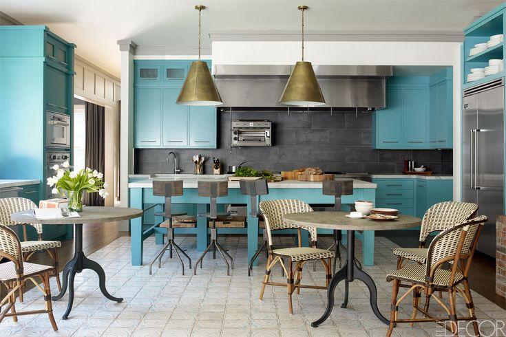Bobby Flay's turquoise kitchen