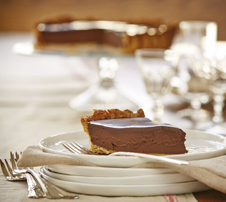 Creamy Chocolate Tart with Parmesan Walnut Crust by Wisconsin Cheese ...