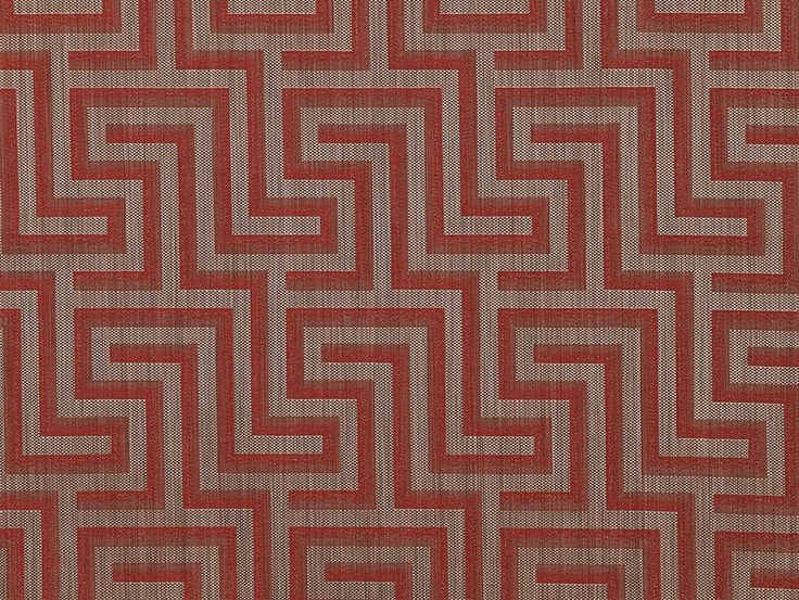 Q Designs Labyrinth Red Fabric