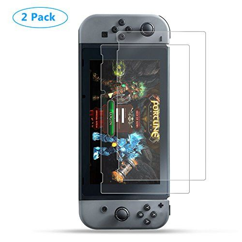 For Nintendo Switch Screen Protector Anti-Scratch Full Coverage Screen Protector for Nintendo Switch Clear HD Anti-Bubble Film 2 Pack
