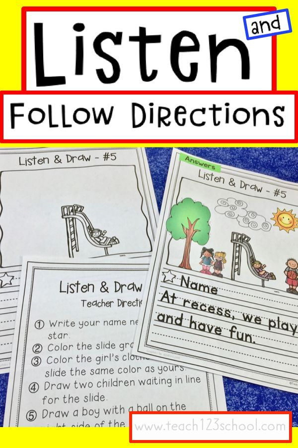 Listening activities for kindergarten, 1st, and 2nd graders