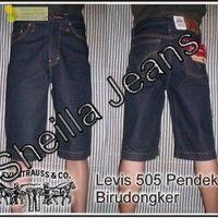 Celana jeans pendek levis biru