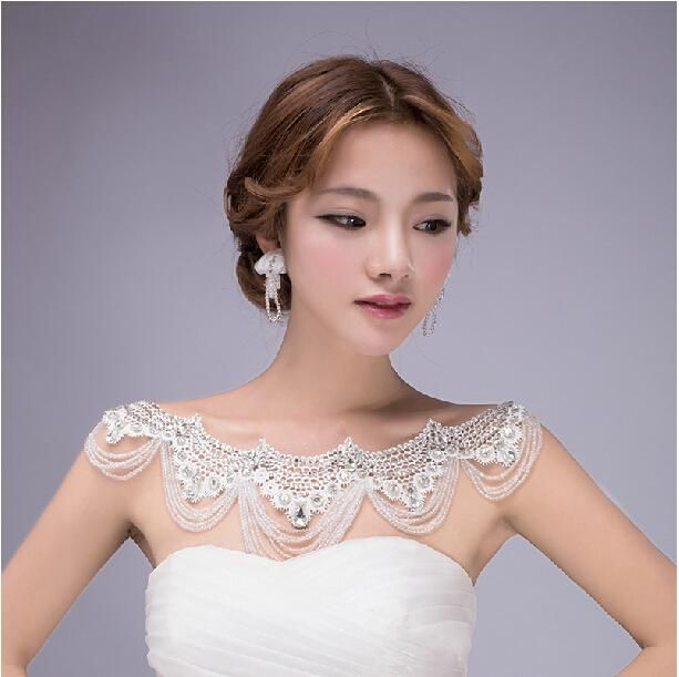 Fine Bridal Jewelry 2015 Gorgeous Crystal Rhinestones Wraps Shoulder Chain Bridal Jewelry Wedding Necklace Accessories Kids Jewelry From Bingbridal, $99.48| Dhgate.Com