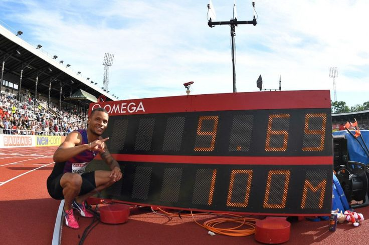 Markham's Andre De Grasse poses with his eye-popping wind-aided clocking in Sunday's Diamond League 100-metre final in Stockholm. June 18, 2017