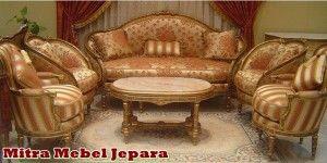 Set Kursi Tamu Sofa Mewah Jati Furniture / SKT-005