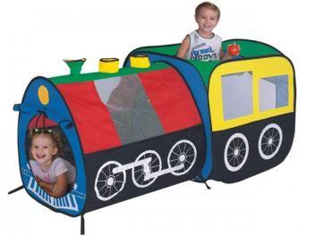 Toca Braskit Locomotiva - com 100 Bolinhas