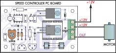 This block diagram shows that how to connect a motor to this circuit