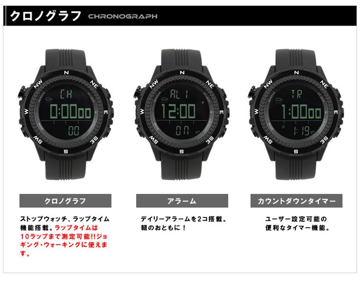 激安 アウトドア 腕時計 メンズ ラドウェザー ドイツ製センサー :lad004:e-mix - 通販 - Yahoo!ショッピング