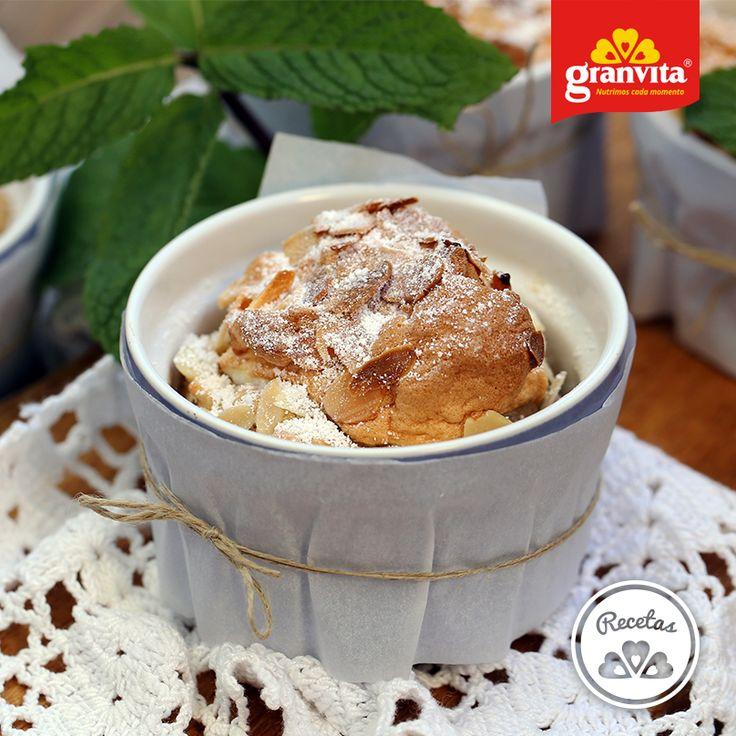 #Receta: Soufflé de Avena Granvita con plátano.   ¡Ya se nos antojó!