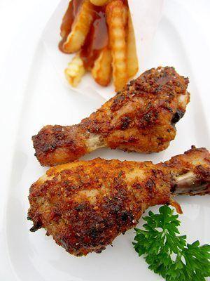 Knusprige Hähnchenkeulen aus dem Ofen, eingelegt in würziger Herbaria Tango Spice Marinade ...