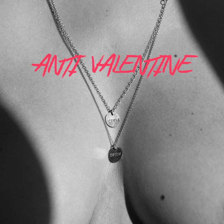 """ANTI VALENTINE Show heart emoticon when you feel it not only once a year.  Poke fun with friends/partner & let them add 50% to the price when shopping with the code: ->""""valentines"""" <- #campaign #jewelry #promo #promocode #valentines #allahjärtansdag #opiumjewelry #love #instagood #poke #antivalentine #opiumjewelry"""