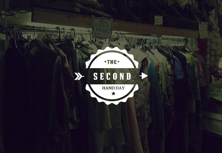Diseño de logotipo para un evento de venta de ropa de segunda mano.